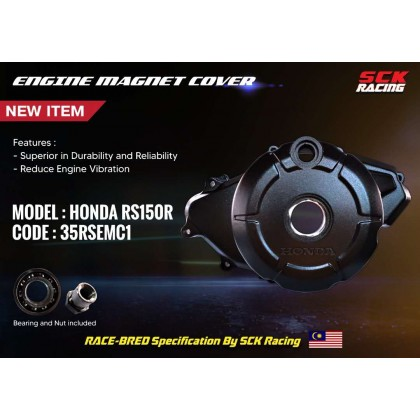 SCK ENGINE MAGNET COVER Y15ZR / RS150 ( WITH BEARING )