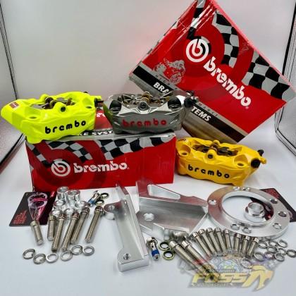 BREMBO M3 Front Caliper Set Pump 4 POT Y15 Y15zr LC LC135 Y125 Y125ZR LC135 5S RXZ NVX 135 RS150 V1 V2 ZX150 N MAX NMAX